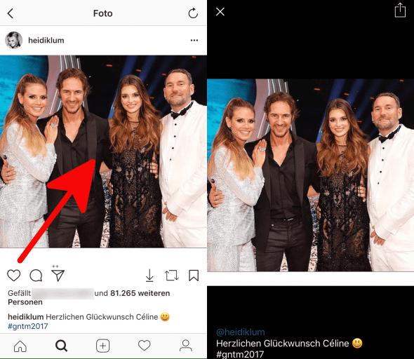 Beiträge vergrößern Instagram