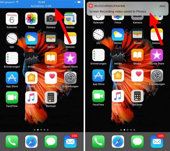 So funktioniert die Bildschirmaufnahme auf dem iPhone