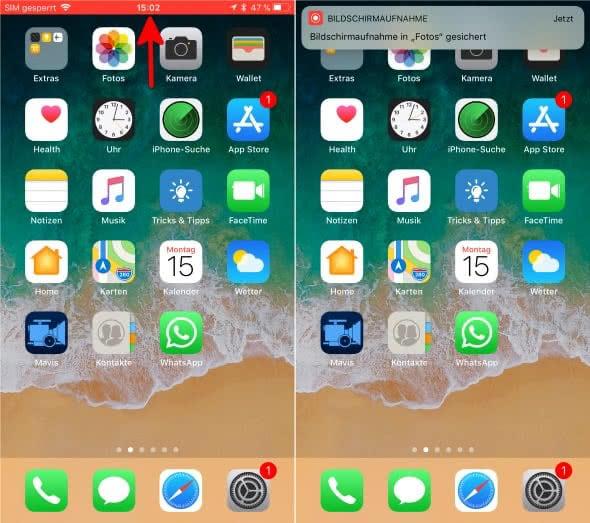 iPhone Bildschirmaufnahme nutzen