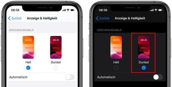iPhone Dark Mode aktivieren