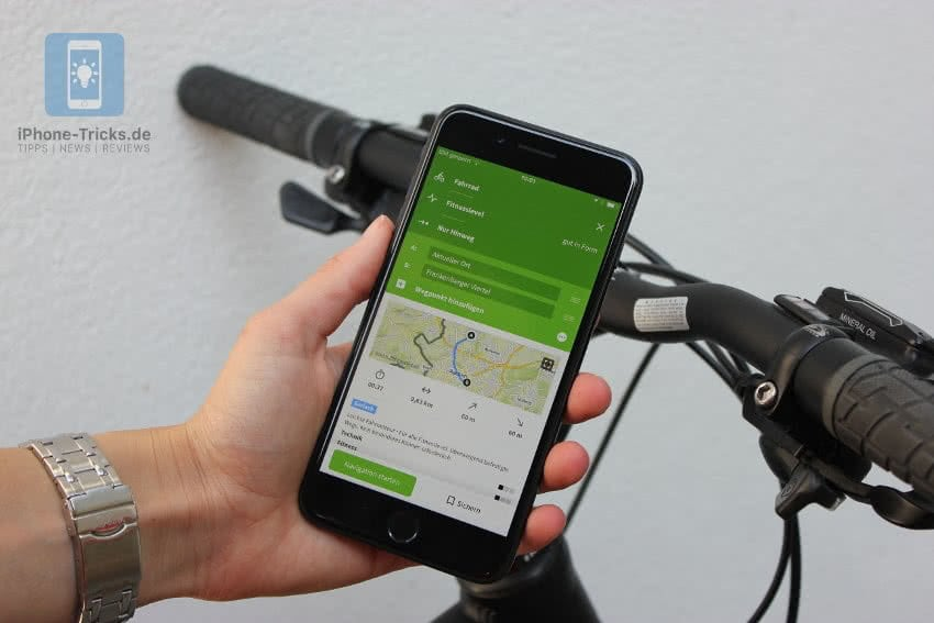 Komoot Fahrrad Navigation