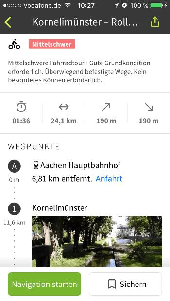 Komoot Routen Infos