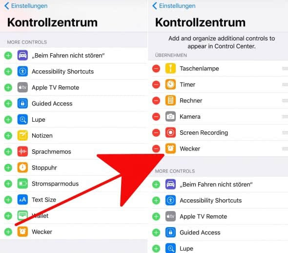 Kontrollzentrum 2 ios 11