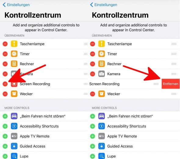Kontrollzentrum 3 ios 11