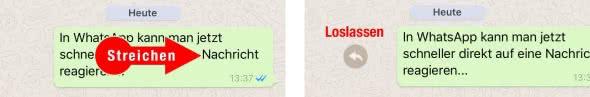 Shortcut: Nachricht zitieren in WhatsApp