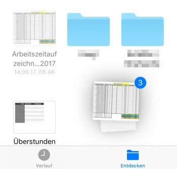 (Mehrere) Datei(en) bewegen per Drag & Drop