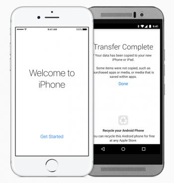 Daten von Android auf iOS übertragen mit Move to iOS