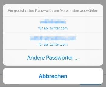 Alle Passwörter anzeigen