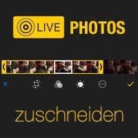 Ausschnitt von Live Photos verändern