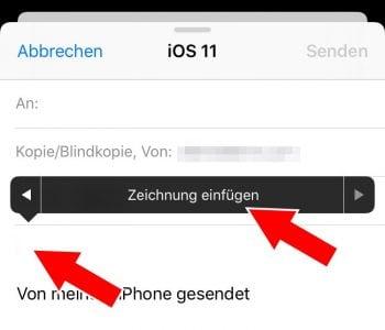 Zeichnung in Apple Mail hinzufügen