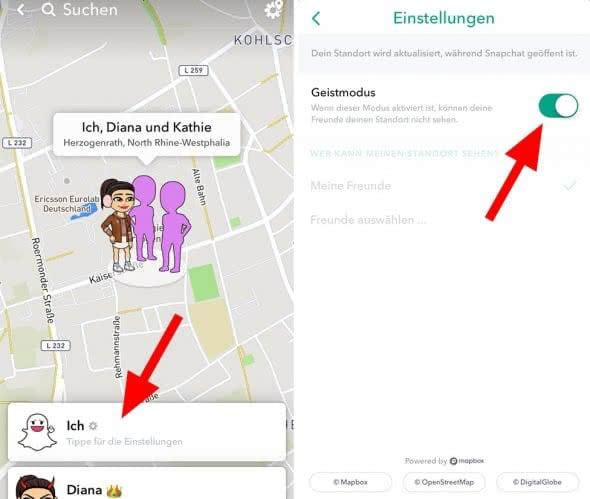 Snap Map: Freunde bei Snapchat orten
