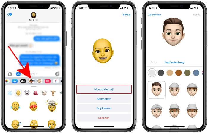 Memoji-Sticker erstellen in iMessage