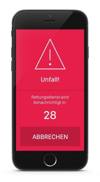 pace app automatischer notruf