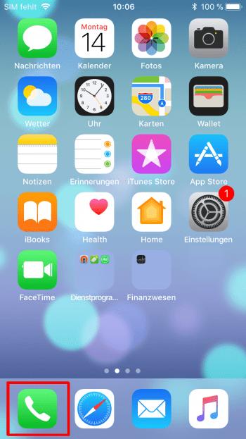 Mit einem Klick - Wahlwiederhohlung auf dem iPhone