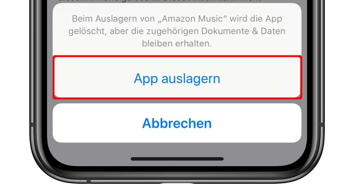 Iphone Apps Auslagern