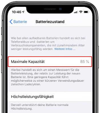 iPhone Batteriezustand überprüfen