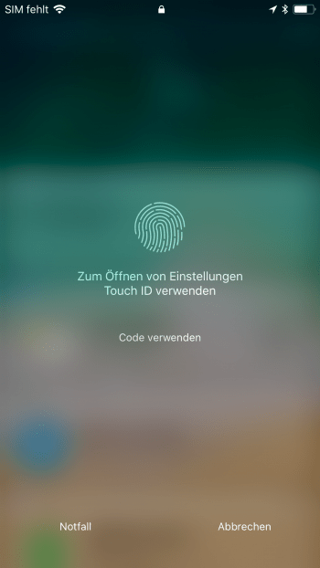 iPhone ohne Home Button entsperren