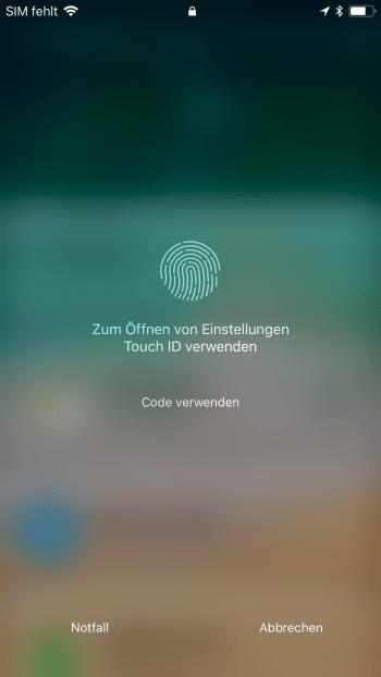 iPhone ohne Home Button entsperren