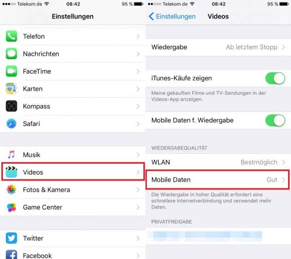 how to set data usage limit in apple iphone