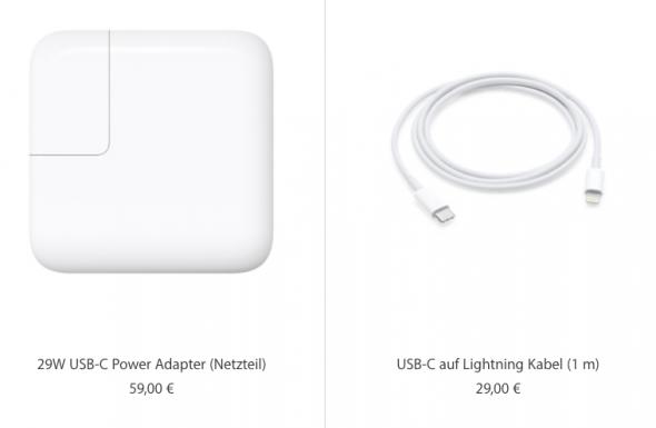 Extra-Zubehör für schnelles Laden am iPhone 8 und am iPhone X.
