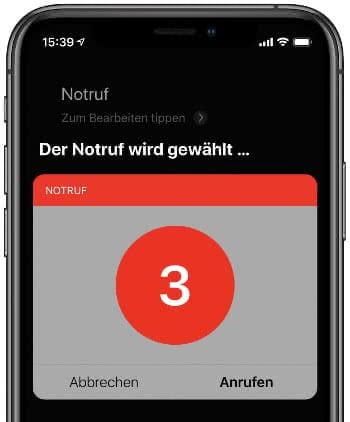 Notruf kontaktieren mit Siri