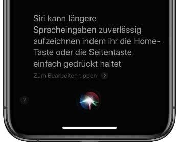 Siri zum Zuhören zwingen