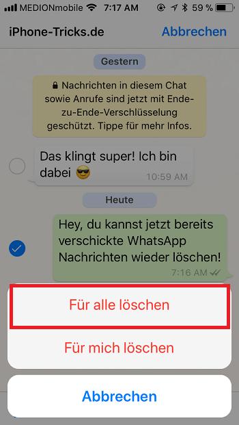 whatsapp nachrichten loeschen 2 min