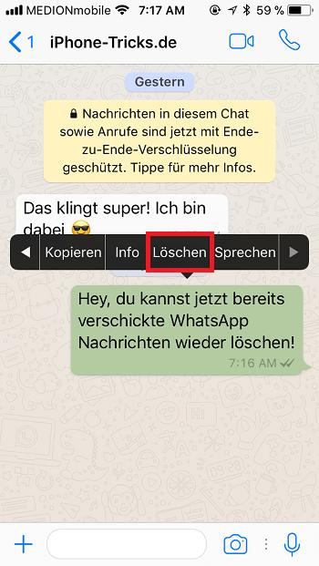 Whatsapp nachricht ungelesen löschen