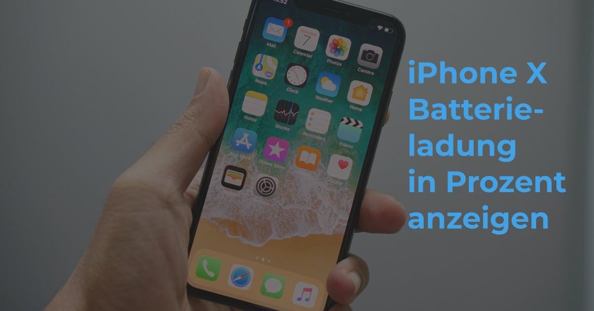 Iphone 11 batterie in prozent anzeigen