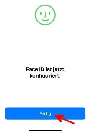 Face ID am iPhone X ist konfiguriert.