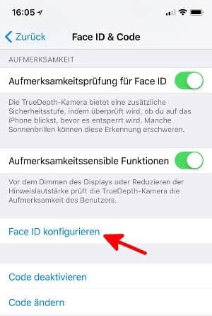 iphone x konfigurieren