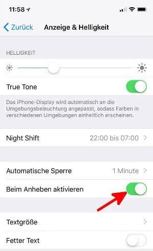 """""""Beim Anheben aktivieren""""-Funktion einschalten, um Face ID schneller zu machen"""