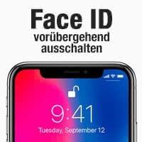 Face ID vorübergehend ausschalten