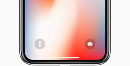 "iPhone X mit ""Home Indicator"""