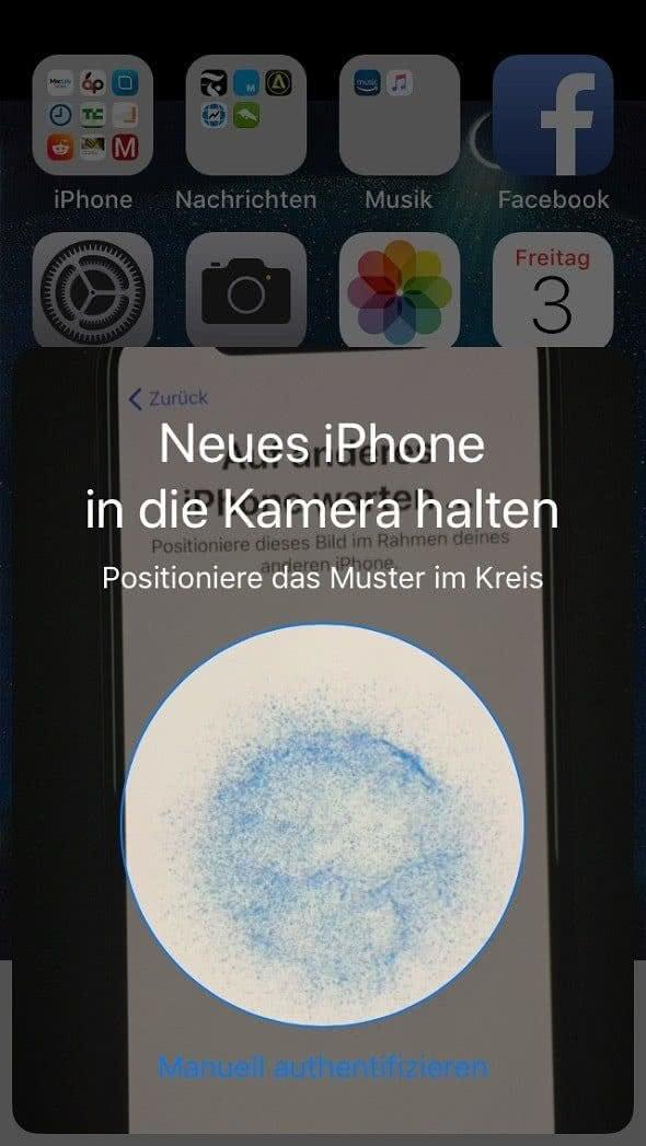 iPhone X und iPhone 8 einrichten mit Quick Start unter iOS 11