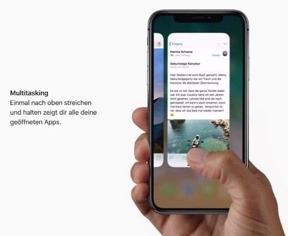 Multitasking-Ansicht öffnen auf dem iPhone X