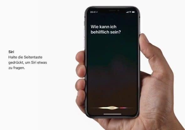 Siri aktivieren auf dem iPhone X