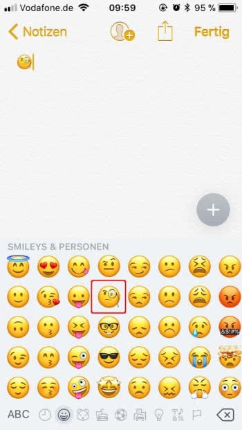 Monokel-Smiley