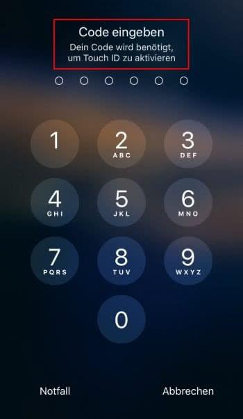 Touch ID vorübergehend ausschalten