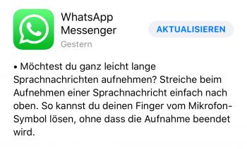 WhatsApp Sprachnachrichten 2