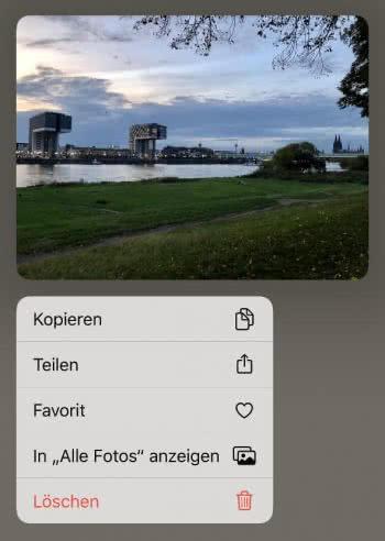 Foto-Vorschau per 3D Touch anzeigen