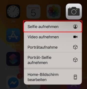 Selfie aufnehmen per 3D Touch