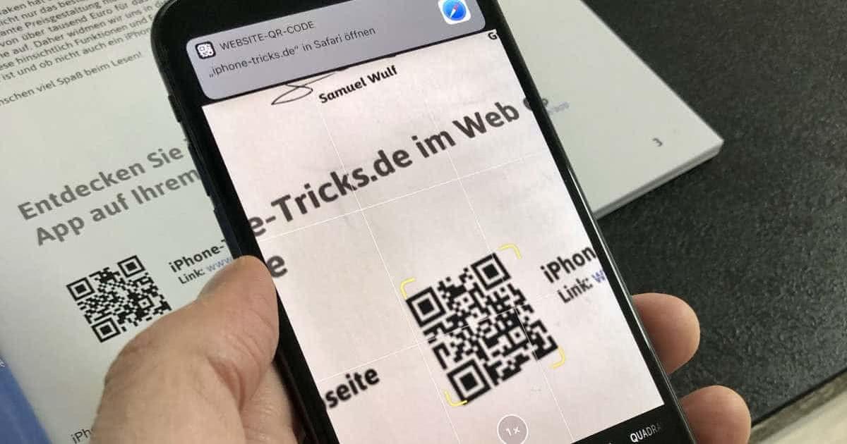 QR-Codes scannen mit dem iPhone - So geht's!