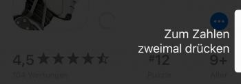 Doppelklick App Store iPhone X