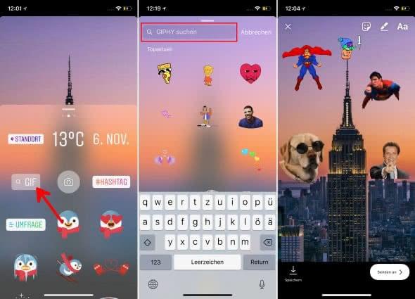 Instagram GIF-Sticker nutzen