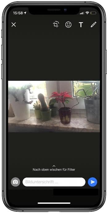 In WhastApp Fotos machen auf dem iPhone