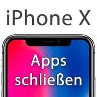 iPhone X Apps schließen