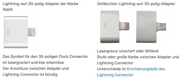 So erkennt ihr gefälschte iPhone-Ladegeräte & -Kabel