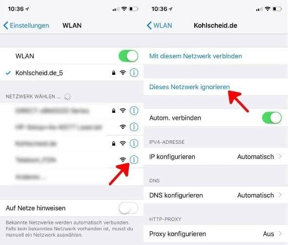 """""""Ungültiges WLAN Passwort""""-Fehlermeldung beheben am iPhone"""