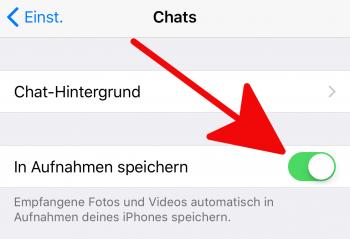 WhatsApp In Aufnahmen speichern